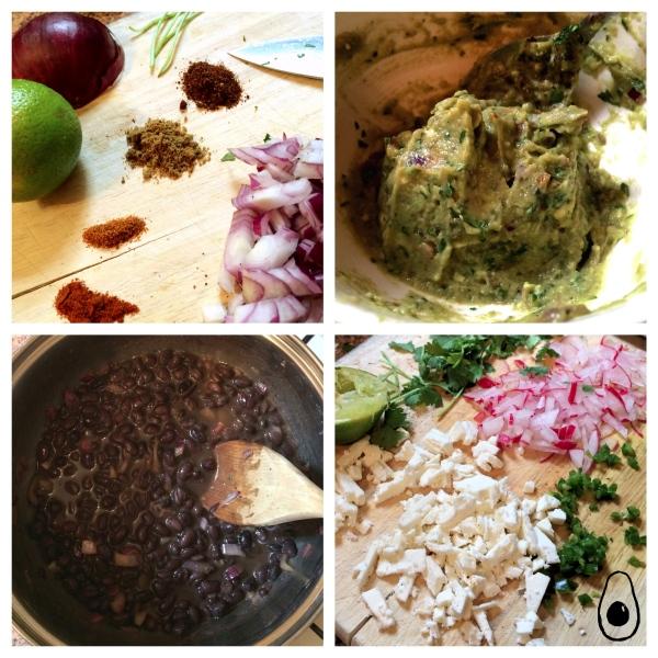 Collage-egg-black-beans-guacamole