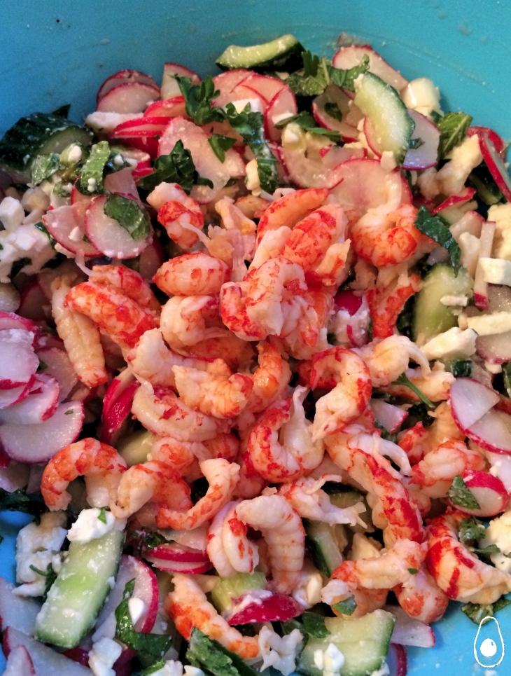 crayfish-radish-feta-salad