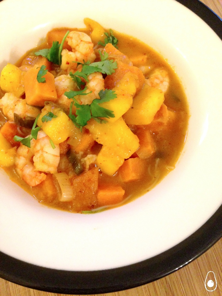 prawn-mango-red-thai-curry