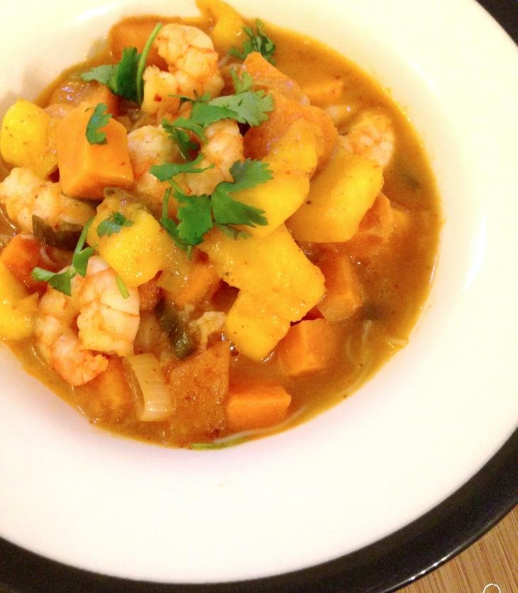 prawn-mango-red-thai-curry