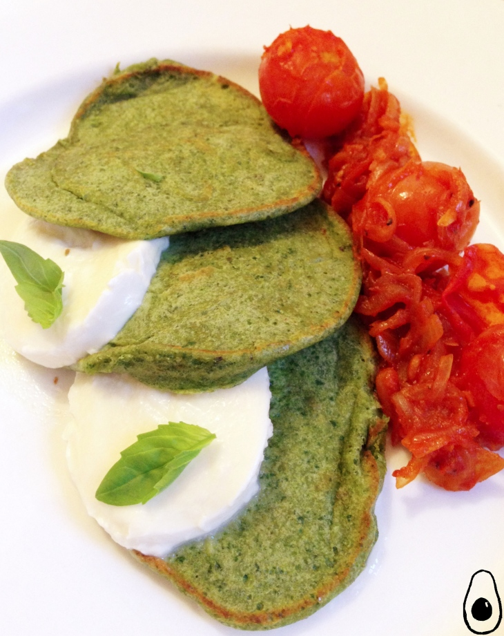 basil-pancakes-with-tomato-ragu