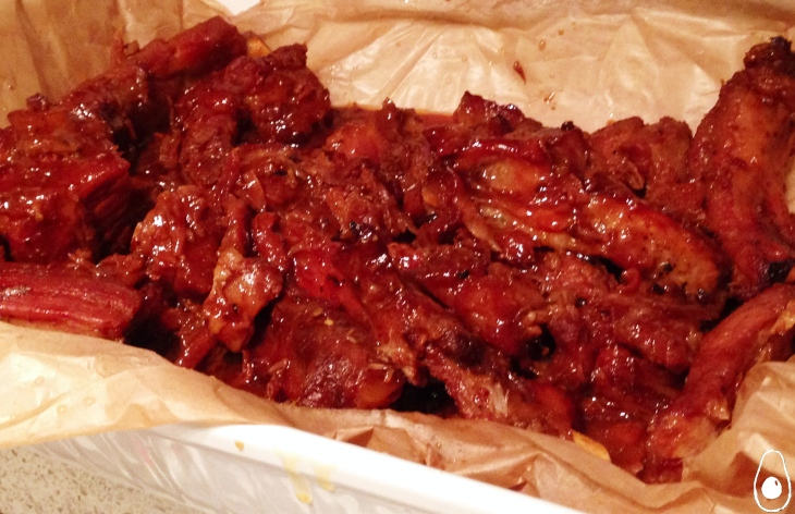 caramel-ribs-served