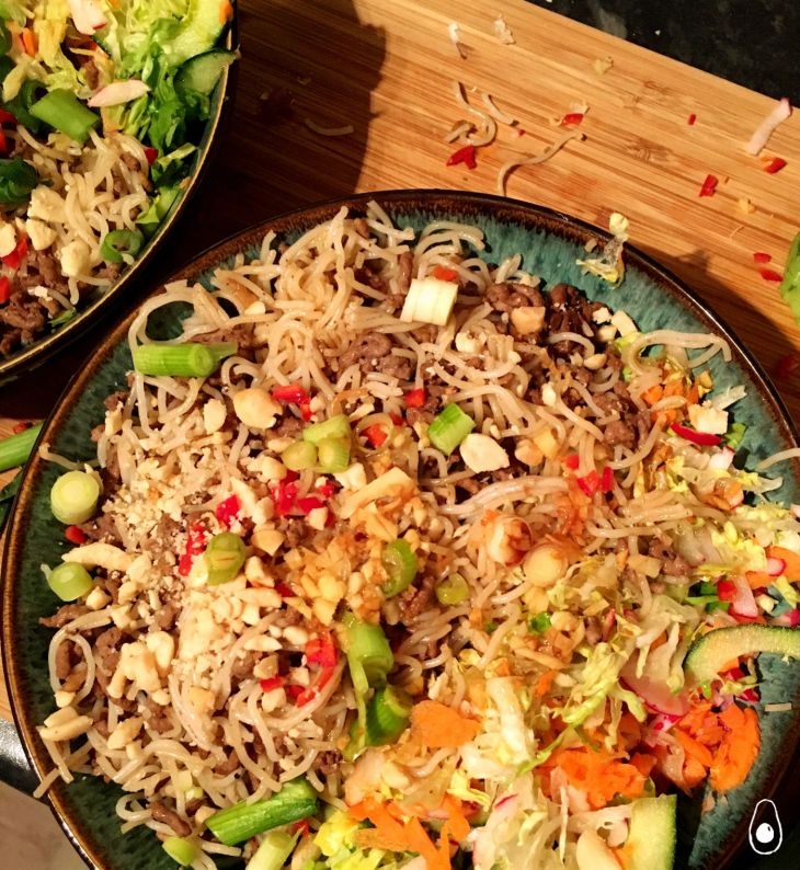 quick-beef-noodles-with-salad