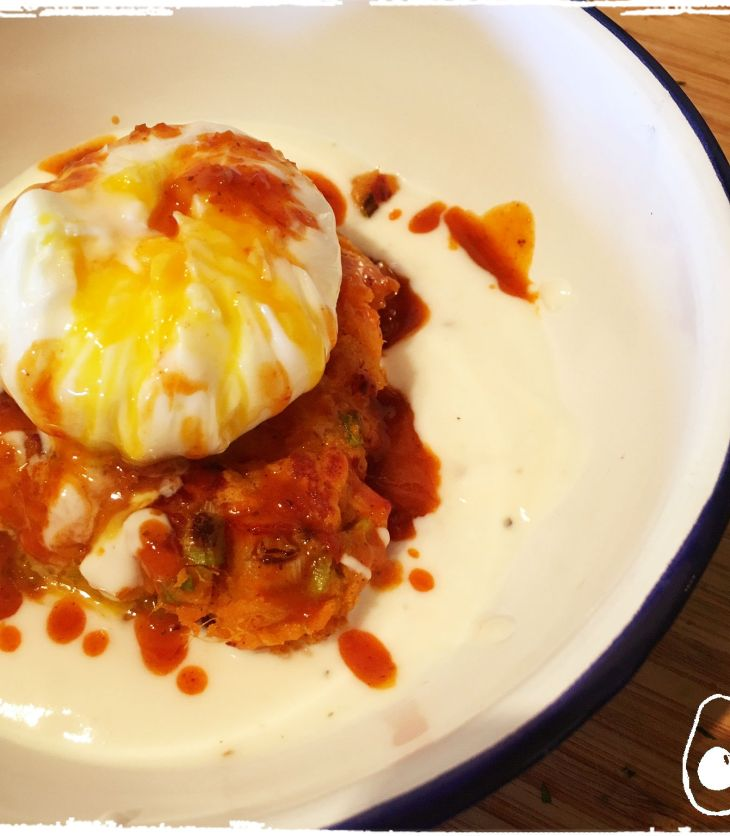 sweet-potato-cakes-with-yoghurt-and-harissa-butter