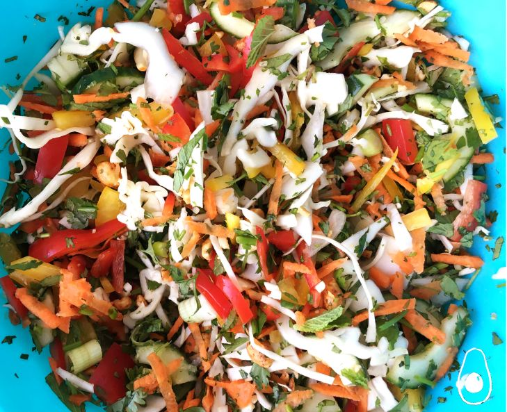 Sriracha-Chicken-Salad-with-Orange-&-Peanut-Dressing